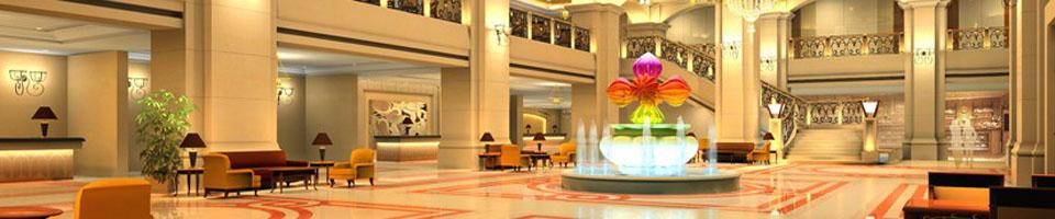 """酒店管理品牌""""——广州岭南花园酒店管理有限公司管理,具有欧式风格"""