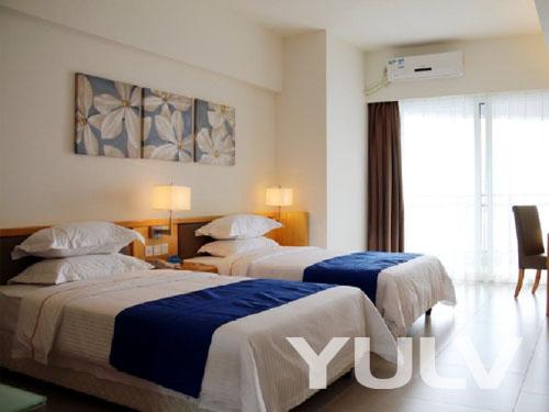惠州巽寮湾海公园爱度度假酒店h栋豪华海景双床房