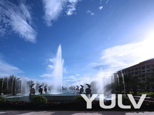 惠州金海湾嘉华度假酒店户外音乐喷泉高清图片