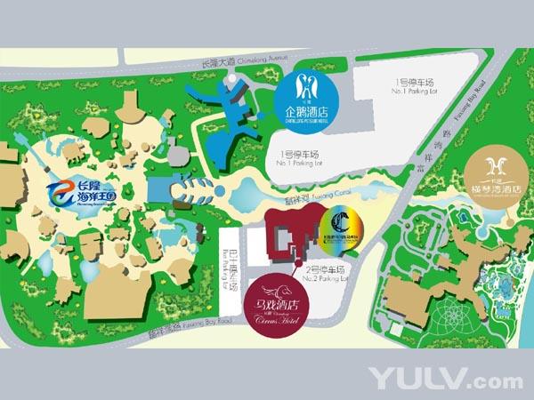 长隆野生动物园 景区地图